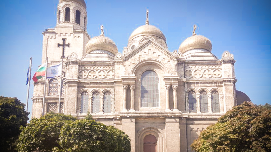 The Dormition of the Mother of God Cathedral, a symbol of the city of Varna (Bulgaria)